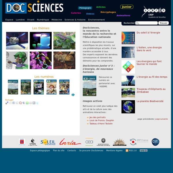 DocSciences - Rencontre entre le monde de la recherche et l'Éducation nationale