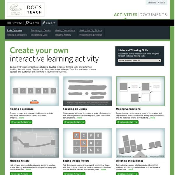 DocsTeach- Create your own Activity