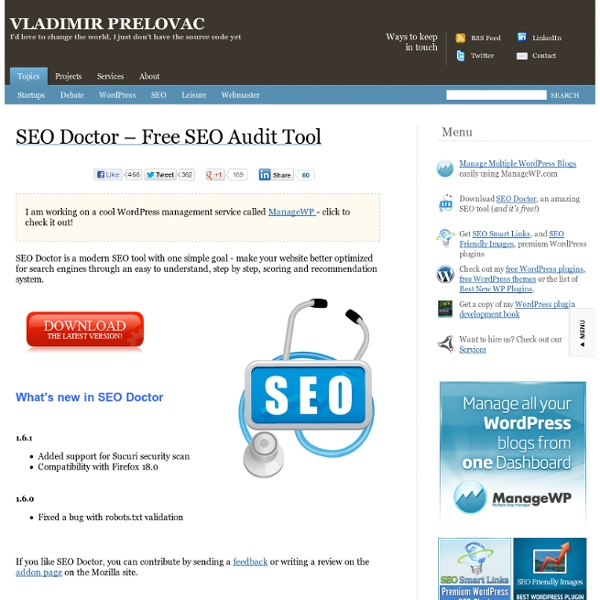 SEO Doctor – Free SEO Audit Tool