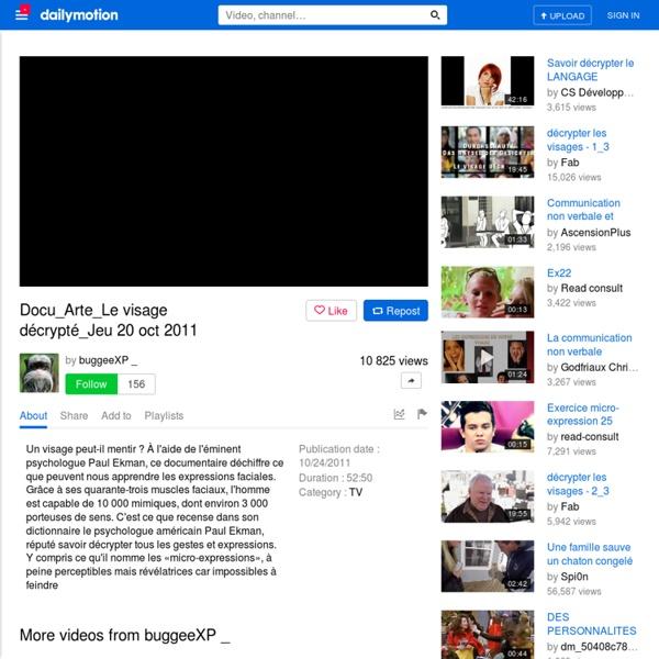 Docu_Arte_Le visage décrypté_Jeu 20 oct 2011