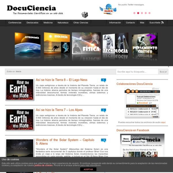 DocuCiencia - Tus Documentales Científicos en un solo click