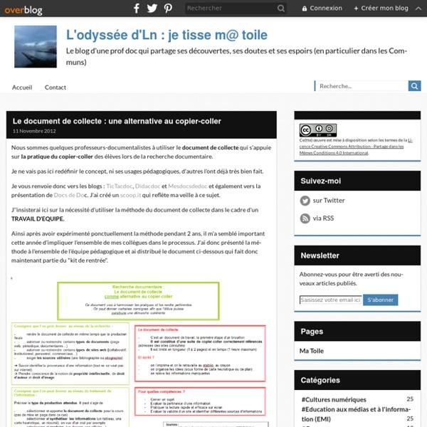 Le document de collecte : une alternative au copier-coller