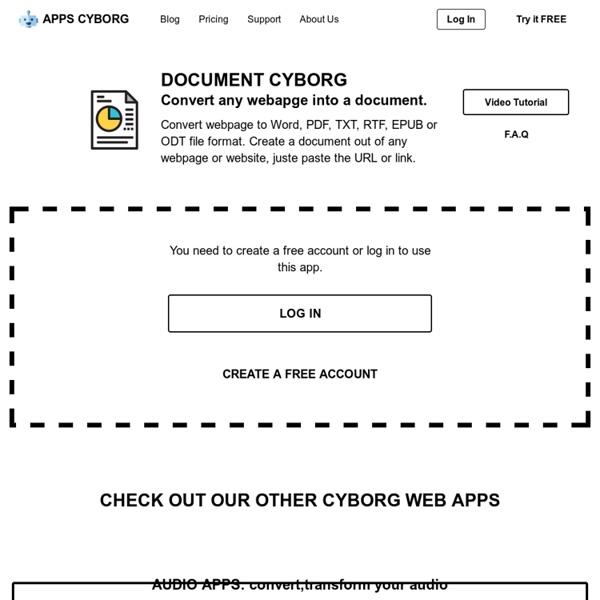 Cyborg: transformer une page Web en document