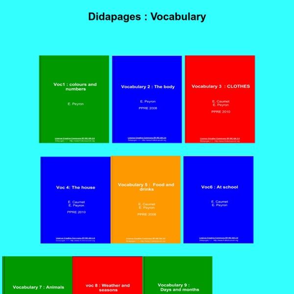 Vocbulary (anglais collège)
