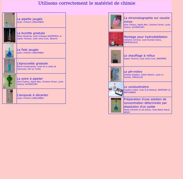 Materiel de chimie