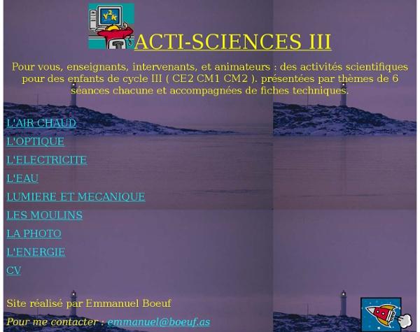 Activités scientifiques et techniques
