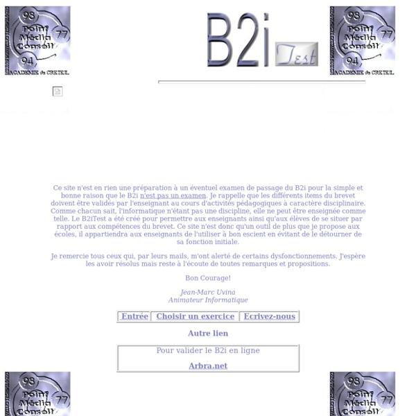 Test en ligne proposé par un animateur informatique de l'académie de Créteil