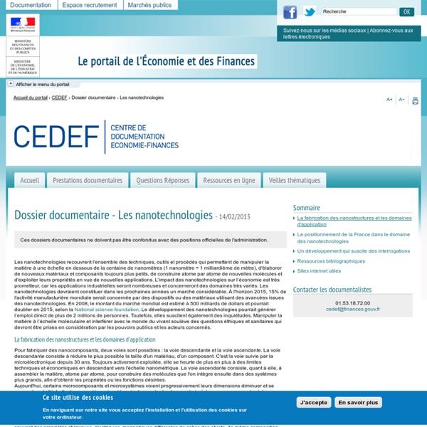 Dossier gouv Les nanotechnologies