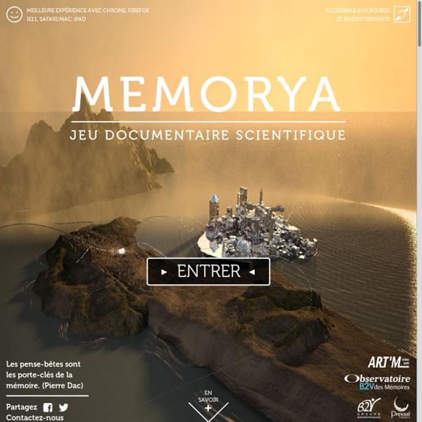 MEMORYA - Jeu documentaire scientifique sur la mémoire