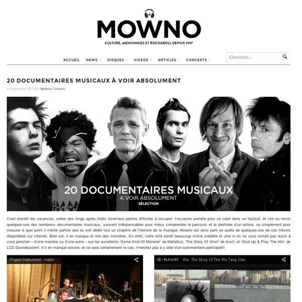 20 documentaires musicaux à voir absolument