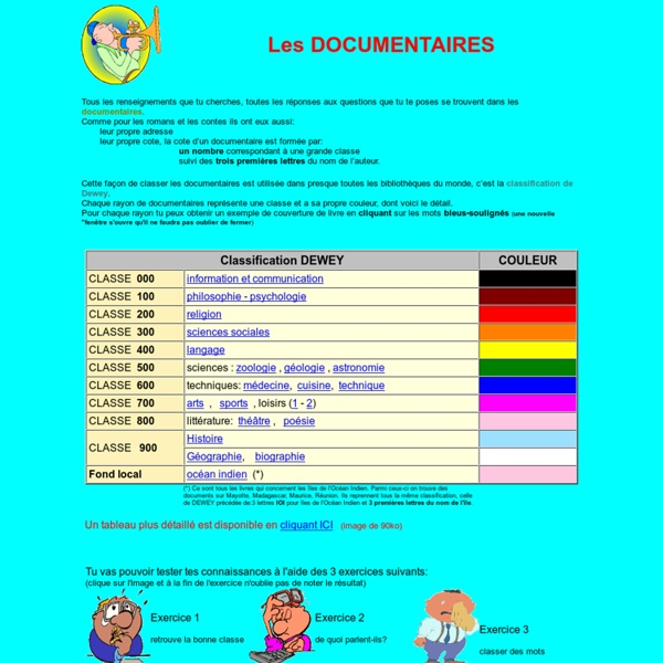 Documentaires classification dewey