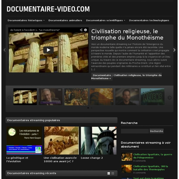 Documentaire-video.com, documentaires en streaming