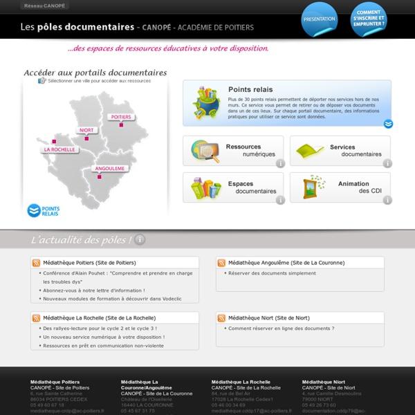 CANOPÉ Académie de Poitiers : Pôles documentaires - Médiathèques