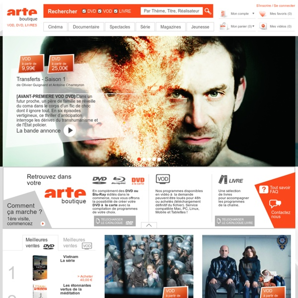 ARTE Boutique - Films, séries, documentaires, spectacles en VOD, DVD, Blu-ray, livres et BD