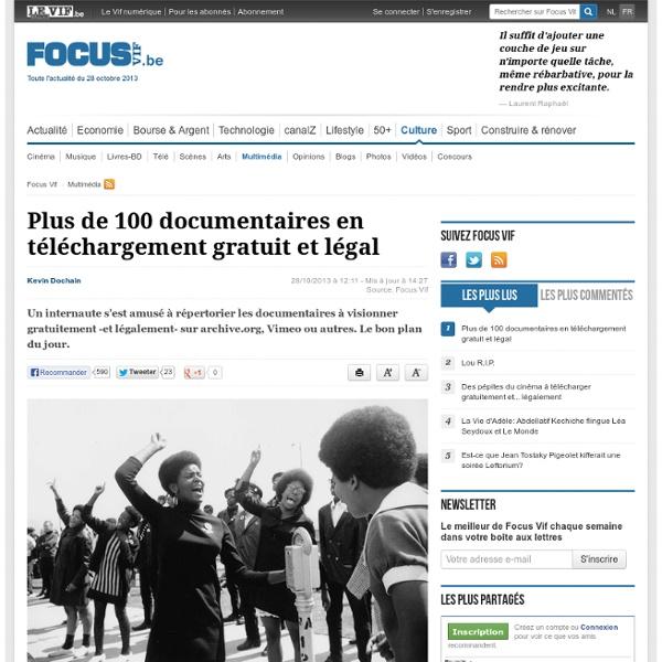 Plus de 100 documentaires en téléchargement gratuit et légal - Multimédia
