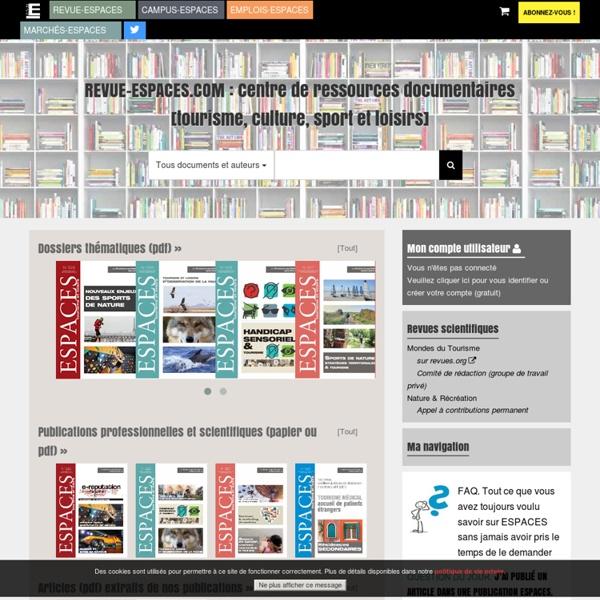 Centre de ressources documentaires tourisme, culture, sport et loisirs // territoires