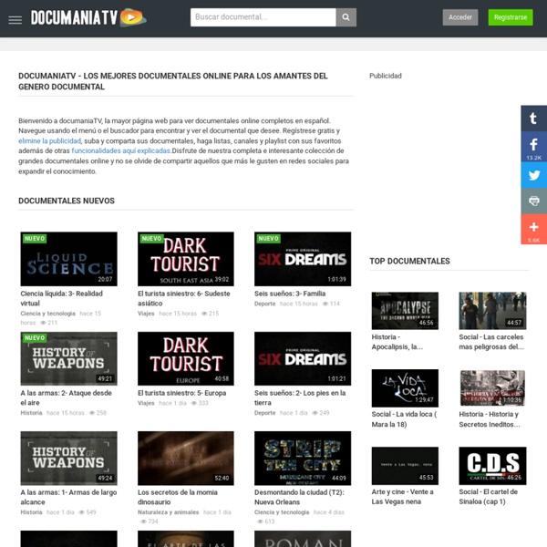 Grandes documentales online en Documaniatv.com, tu web para ver documentales online