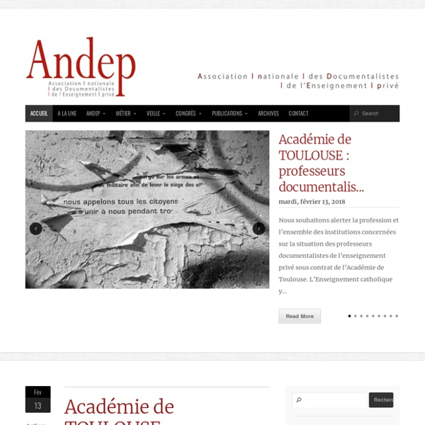 ANDEP Association nationale des Professeurs Documentalistes