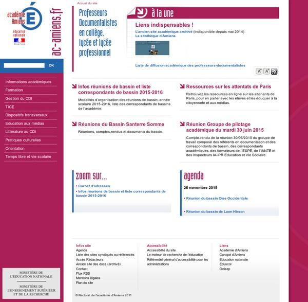 Académie d'Amiens - Professeurs Documentalistes en collège, lycée et lycée professionnel