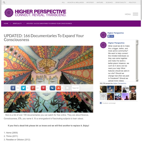 119 Documentaries To Expand Your Consciousness