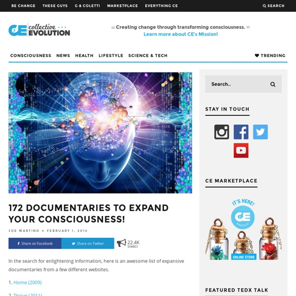 172 Documentaries To Expand Your Consciousness!