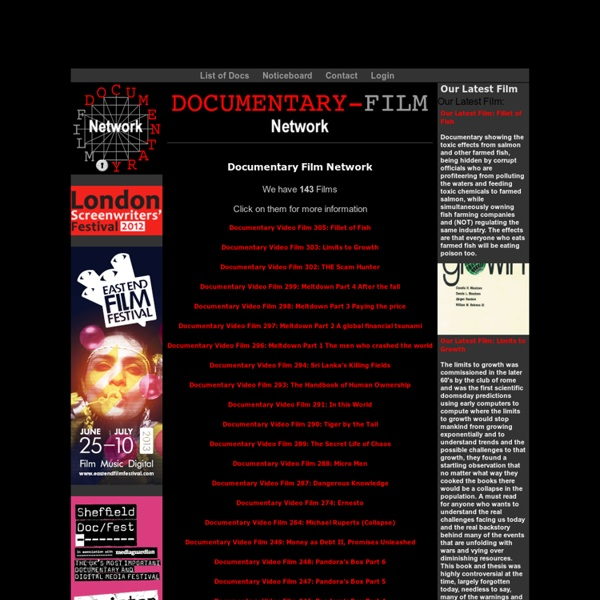 Documentaries, Watch Documentary Films Online