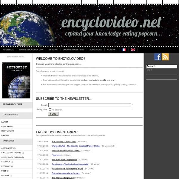 Documentaires / reportages / conférences en streaming gratuit