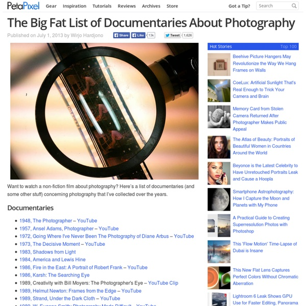 The Big Fat List of Documentaries About Photography