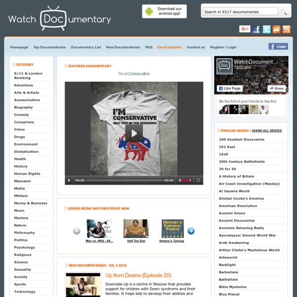 Watch Free Documentaries, Series and Episodes online