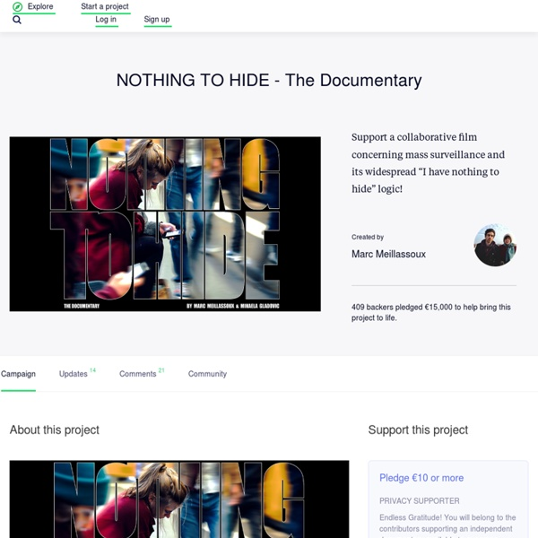NOTHING TO HIDE - The Documentary by Marc Meillassoux