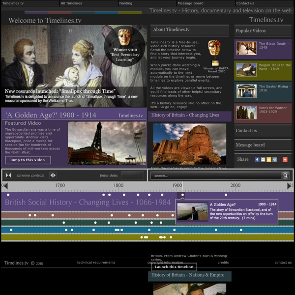 Timelines.tv - History, documentary and video online