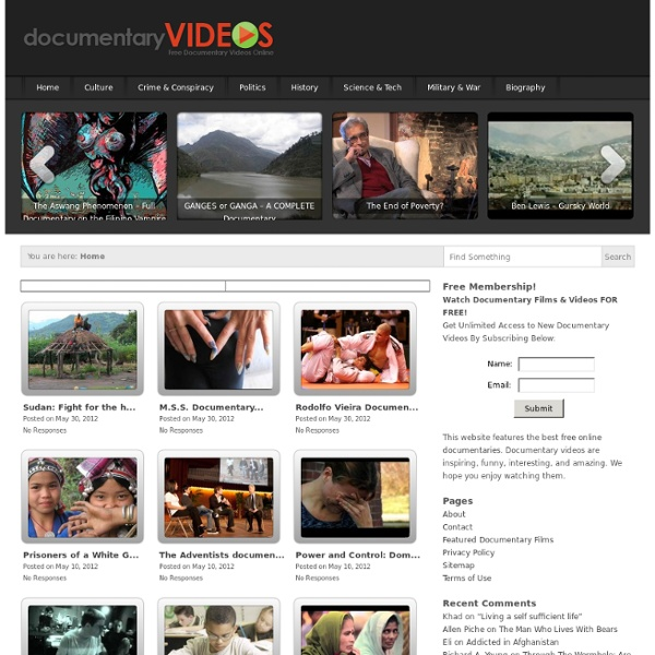Free Documentary Videos Online