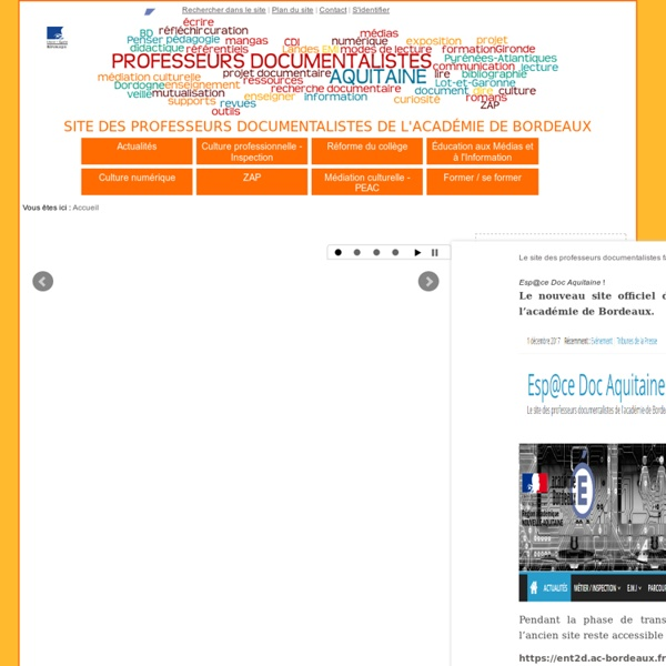 Site de Documentation de l'Académie de Bordeaux