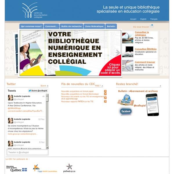 Centre de documentation collégiale (CDC)
