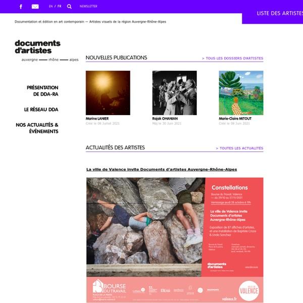 Documents D'Artistes Rhône-Alpes