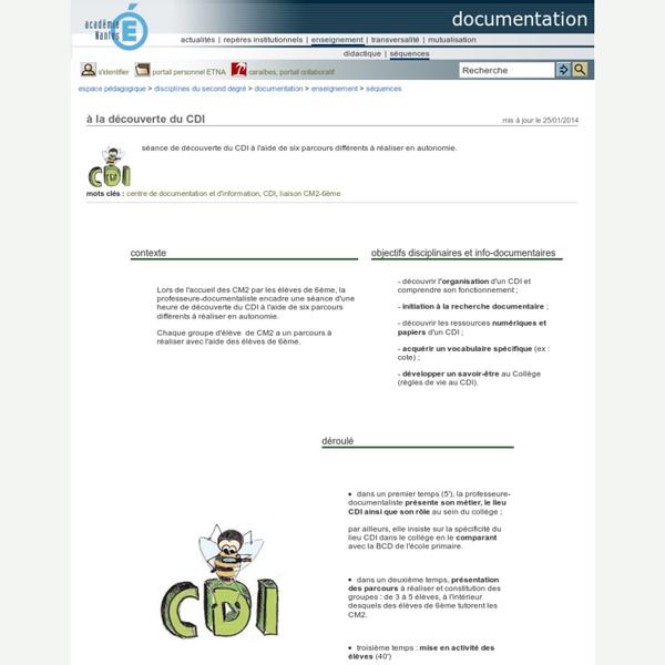 Documentation - à la découverte du CDI