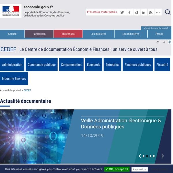 Centre de documentation Economie Finances