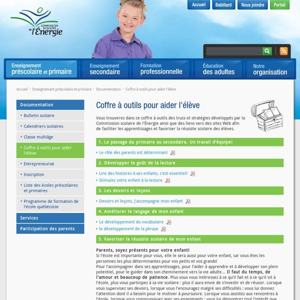 Coffre à outils pour aider l'élève - Documentation - Enseignement préscolaire et primaire