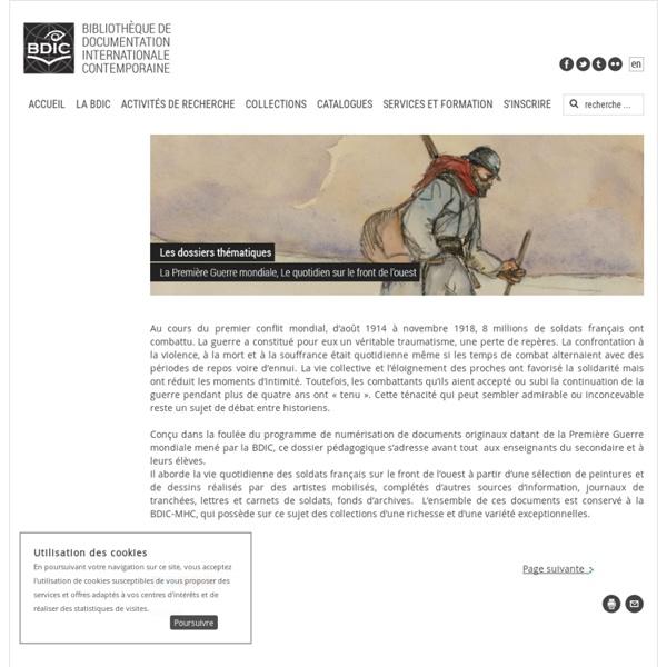 BDIC - La première guerre mondiale