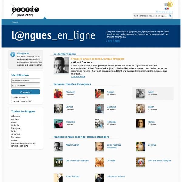 Langues en ligne - Canopé