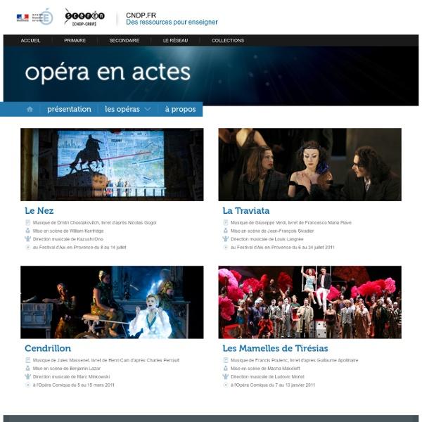 RUB. SITE Canopé :Opéra en actes