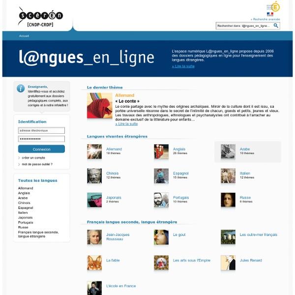 SITE + LETTRE Canopé : L@ngues_en_ligne