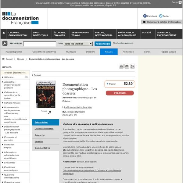 Documentation photographique - Abonnement aux dossiers - Revues