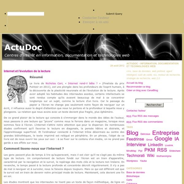 ActuDoc - Information, documentation et technologies web