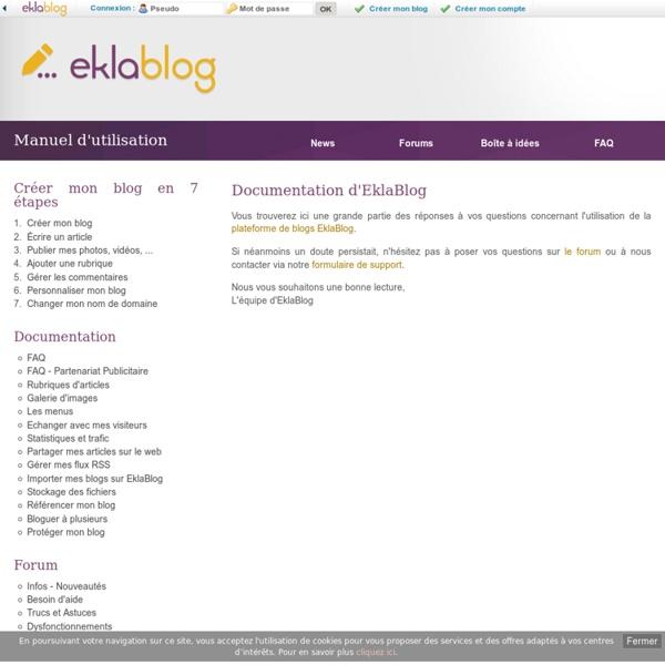 Manuel d'utilisation d'EklaBlog