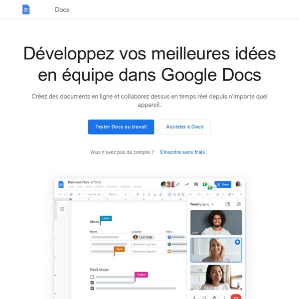 Docs vous permet de créer et de modifier des documents en ligne gratuitement