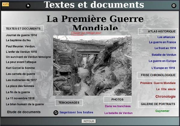 Textes et documents Première Guerre Mondiale