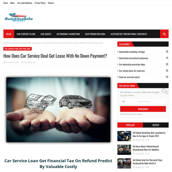 How Does Car Service Deal Get Lease With No Down Payment?
