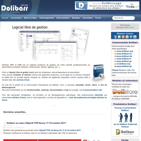 Dolibarr - ERP/CRM Open Source - Gestion Commerciale gratuite