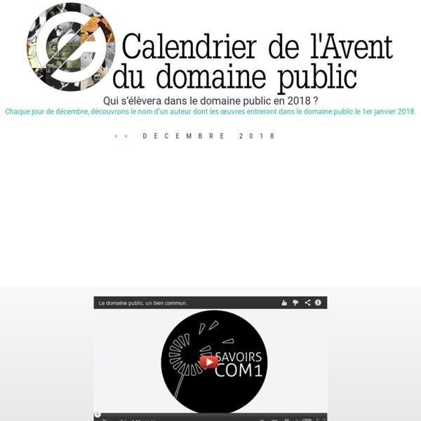 Dans le domaine public en 2015 - Calendrier de l'avent du domaine public
